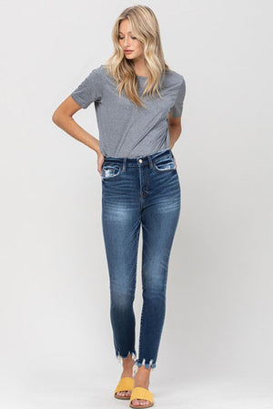 Flying Monkey Exile Distressed Crop Skinny