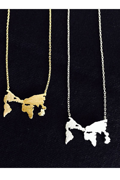 Tiny World Traveller Map Necklace