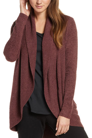 Barefoot Dreams CozyChic Lite Circle Cardi Rosewood