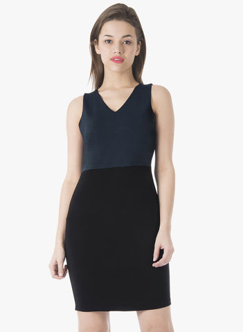 CLASSICS Bodycon Dress - Navy Black - VS FASHIONS
