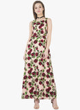 Blush Floral Classic Maxi Dress - VS FASHIONS