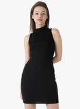 BASICS High On Bodycon Dress - Black - VS FASHIONS