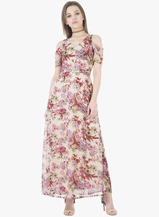 Floral Fix Cold Shoulder Maxi Dress