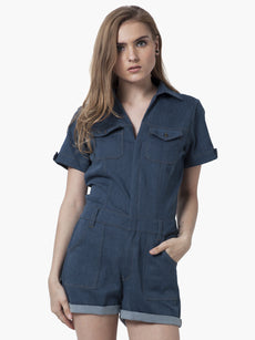 Denim Dame Playsuit - Light