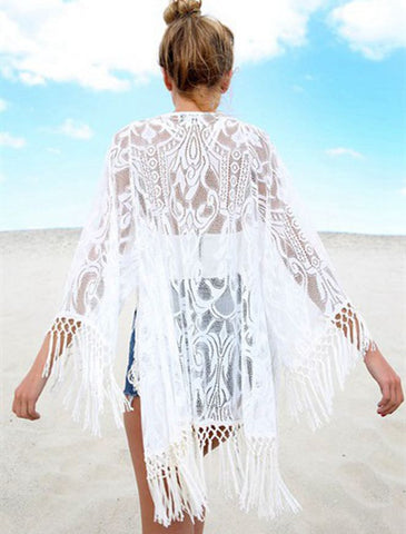 Fashion Tassel Kaftan Cover Up