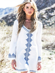 Long Sleeve Beach Dress