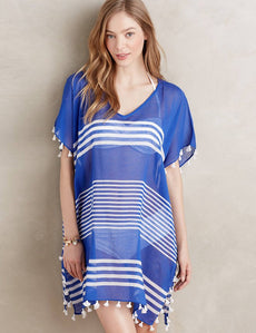 Transparent Chiffon V-neck Beach Dress