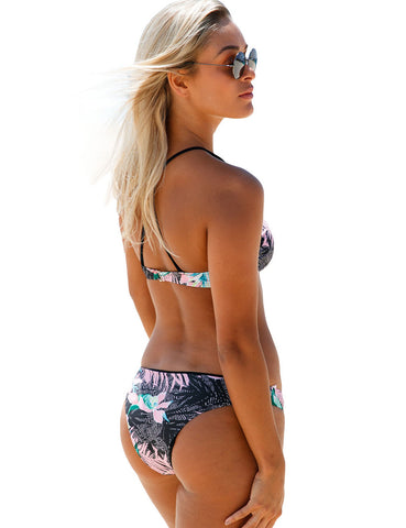 Fresh Tropical Print Bikini Swimsuit