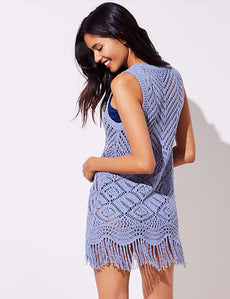 Chenille Knitted Hollow Out Beach Dress