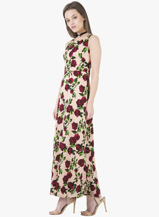 Blush Floral Classic Maxi Dress