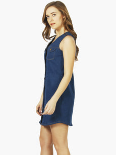 Denim Shirt Dress - Mid Blue