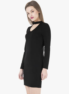 Choker Bodycon Dress - Black