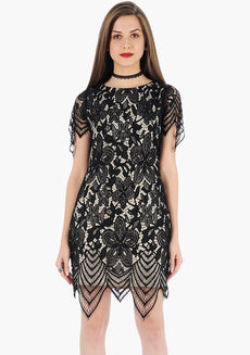 FABALLEY Goth Diva Mini Dress - Black