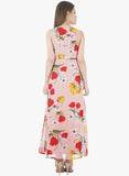 Pink Floral Classic Maxi Dress - VS FASHIONS