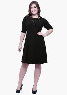 CURVE Go Glam Skater Dress - Black