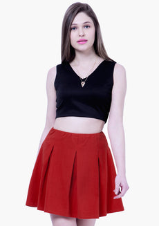 BASICS Skater Mini Skirt - Red