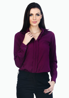 Ruffle Curves Shirt - Purple