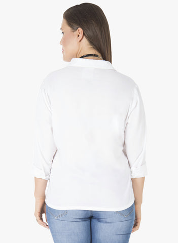 CURVE Embroidered Shirt - White