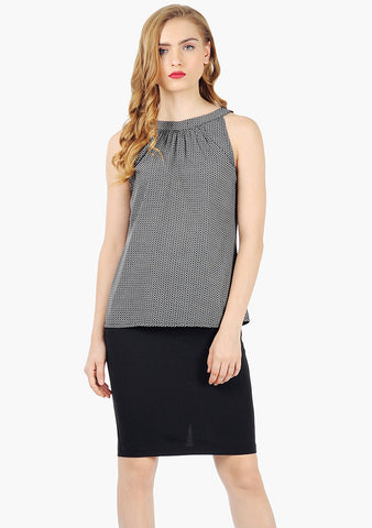 FABALLEY Geo Go Halter Blouse - VS FASHIONS