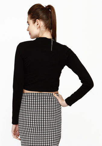 Game Changer Crop Top - Black - VS FASHIONS