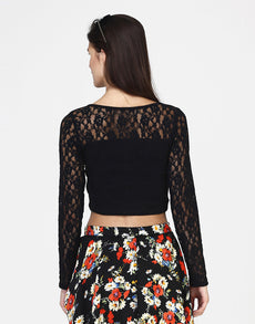 Lace Mash Crop Top