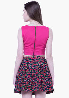 BASICS Floral Skater Mini Skirt