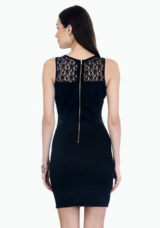 Curvy Dreams Bodycon Dress - Black