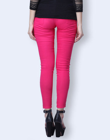 Daily Dose Fuchsia Pants - VS FASHIONS