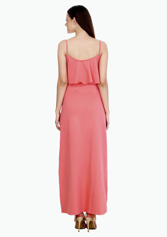 Spring Layers Maxi Dress - Coral