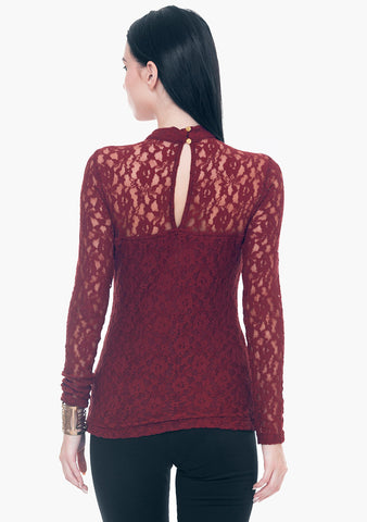 Totally Laced Top - Oxblood