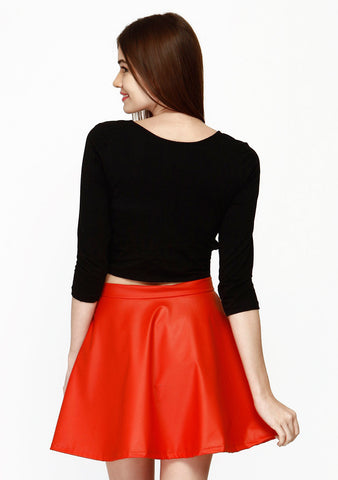 Cut Away Crop Top - Black - VS FASHIONS