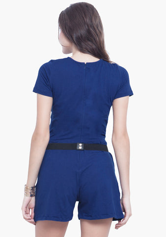 Spring Ahead Blue Playsuit
