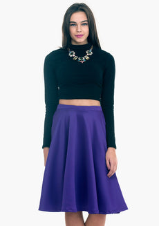 Scuba Sass Midi Skirt - Purple