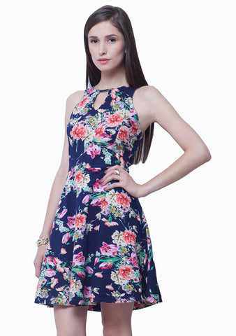 Strap It In Skater Dress - Floral