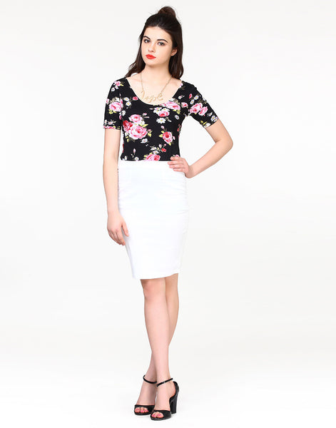 Shape Up Pencil Skirt - White