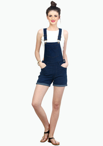 FABALLEY Denim Overalls - Dark Wash - VS FASHIONS