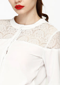 Lace Elements Shirt - White