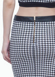 Supernova Pencil Skirt - Houndstooth