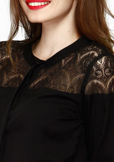 Lace Elements Shirt - Black