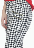 Modish Houndstooth Zip Trousers - VS FASHIONS