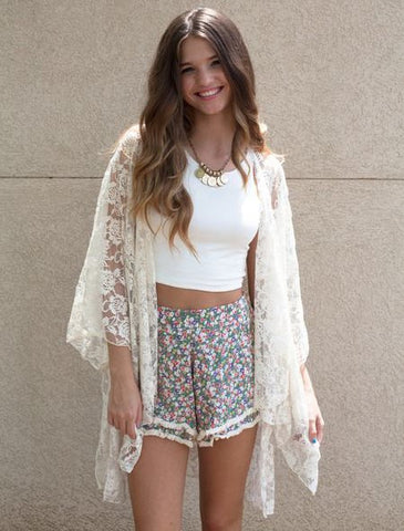 White Crochet Cover-Up Dress