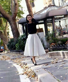 Autumn Vestidos Knit Patchwork Sweater Pleated Women Work Wear Casual Skirt Suit