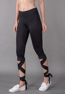 Wide Waistband Tie Up Leggings Sportswear