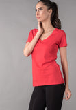 WOMEN V NECK T SHIRT VS FASHIONS
