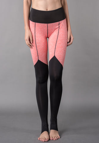 Active Color Block Seamless Topstitch Stirrup Leggings Sportswear - VS FASHIONS
