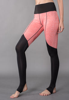 Active Color Block Seamless Topstitch Stirrup Leggings Sportswear
