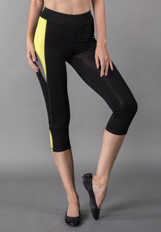 Wide Waistband Crop Paneled Leggings Sportswear