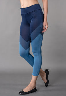 Color Block Cut And Sew Leggings Sportswear