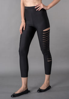 Active Ladder Ripped Capri Leggings Sportswear