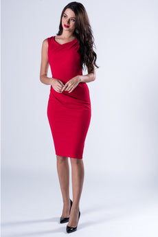 MIDI DRESS RED VS FASHIONS